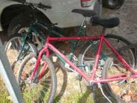 I have two bikes that have not been used, would like to