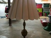 I am selling two antique brass lamps that were given to