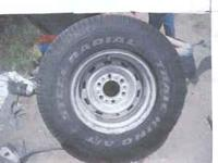 "Two good 15""x 8"" wide Chevy 6 lug Rally Wheels,"