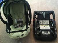 2 like new combi car seats.  one green $50 one white