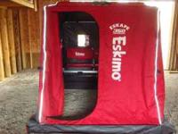 Two Eskimo Eskape 350 Portable Sled Ice Fishing house