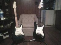 Selling these Fender style guitars for $60 each. Stands
