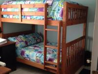 Type: Furniture Type: Bunk Beds Solid wood full size