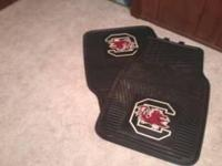 TWO GAMECOCK FLOORMATS. STILL LIKE NEW $30.00 FIRM CASH