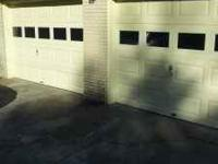 2 large garage doors 10x 7in half each both