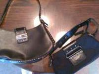 Two black GUESS purses Both are very CLEAN inside and