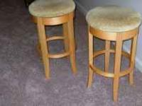 HAVE TWO HARD MAPLE SOLID WOOD STOOLS LIKE NEW