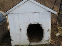 Two heavy duty, insulated dog houses for sale. The