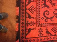 Two beautiful hand woven rugs, contemporary/post