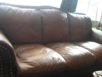 I have two designer leather sofas for sale in good