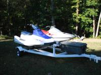 1990 Kawasaki Jet Ski and 1988 Yamaha waverunner with