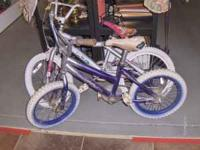 We have 2 kids bikes for sale. Now clearances priced at