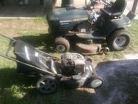 "Two Lawn Mowers - 1 Sears Riding 19HP with 42"" cut -"