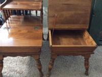Hello, I have TWO Ethan Allen Side tables / End tables