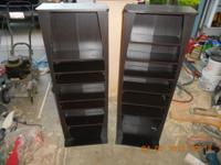 Two media cabinets for cds, etc.....$20.00 each or both