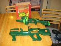 I have 1 battery operated and 1 belt fed Nerf Foam guns