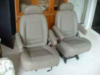 Two brand new leather grey car seats from a 2002 Estate