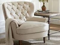 Gorgeous neutral chairs in oatmeal linen fabric. You