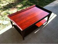 Two nice coffee tables.  1. Cherry finished, Sturdy and