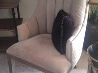 Two Uttermost Occasional Armchairs. Tufted channel back