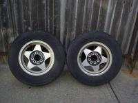 Up for sale is 2 Tires with rims. The tires are Road