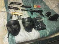 Tippman 98 custom and e rex automatic paint ball gun