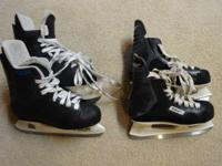 I have two pair of hockey skates for sale.   One is