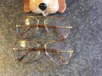 Two Pair of Vintage Aviator GF Eye Glasses with Doggy