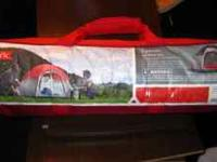 Two person, Embark hex dome tent. Used once; in great