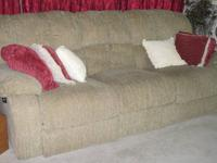Beige-light brown Couch & Recliner Set from Moms