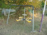 We have a two piece outdoor play set that is in very