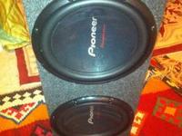 "I have 2 12"" Pioneer TS-W310D4 subwoofers that are in"
