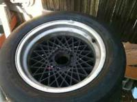 Two five lug Pontiac snow flake wheels, need touch up,