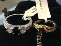 I have 2 rings for sale on is a size 10 Sapphire unsure