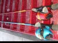 Two Shakespeare Firebird Spincast Fishing Combo's, One