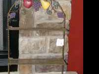 Two shelf wire display with paper towel holder and