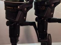 The reels in the two combos are Shimano IX