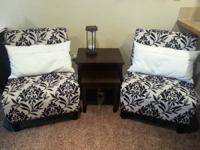 2 stunning, practically new occasional/side chairs with