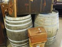 These are two Solid Oak Very Heavy Duty French Wine