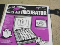 I have two still air incubators for sale. One is newer.
