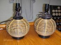 "VERY GOOD CONDITION ROUND 16"" LAMPS FOR YOUR DRESSER."
