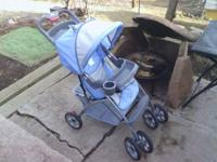 We have two strollers we are selling. The blue Cosco