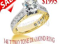 WE OFFER YOU TWO TONE ENGAGEMENTRING 14KT GOLD WITH