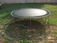 two trampolines for sale. One will need a cover for the
