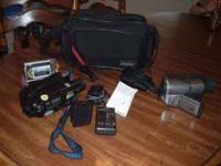 Two video camera's for sale, used in the past but no