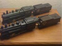Two vintage american flyer steam engines. The 21168