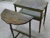 "Two Vintage Antique Tables that ""need some love"".  We"