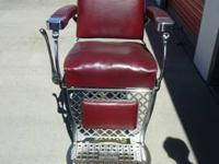 2- Vintage Emil J. Paidar barber chairs. All original