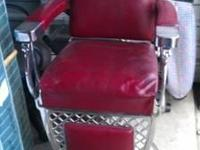 2-Vintage Emil J. Paidar barber chair. All original
