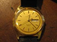 TWO VINTAGE MENS WATCHES  1- HAMILTON QUARTZ 1- ZODIAC